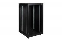 """DR-700011 Datarex Шкаф напольный, телекоммуникационный 19"""", 20U 600х800, передняя дверь стекло, задняя стенка сплошная, металл, черный"""