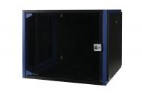 """DR-600221 Datarex Шкаф настенный 19"""", 12U 600х600, дверь стекло черный"""