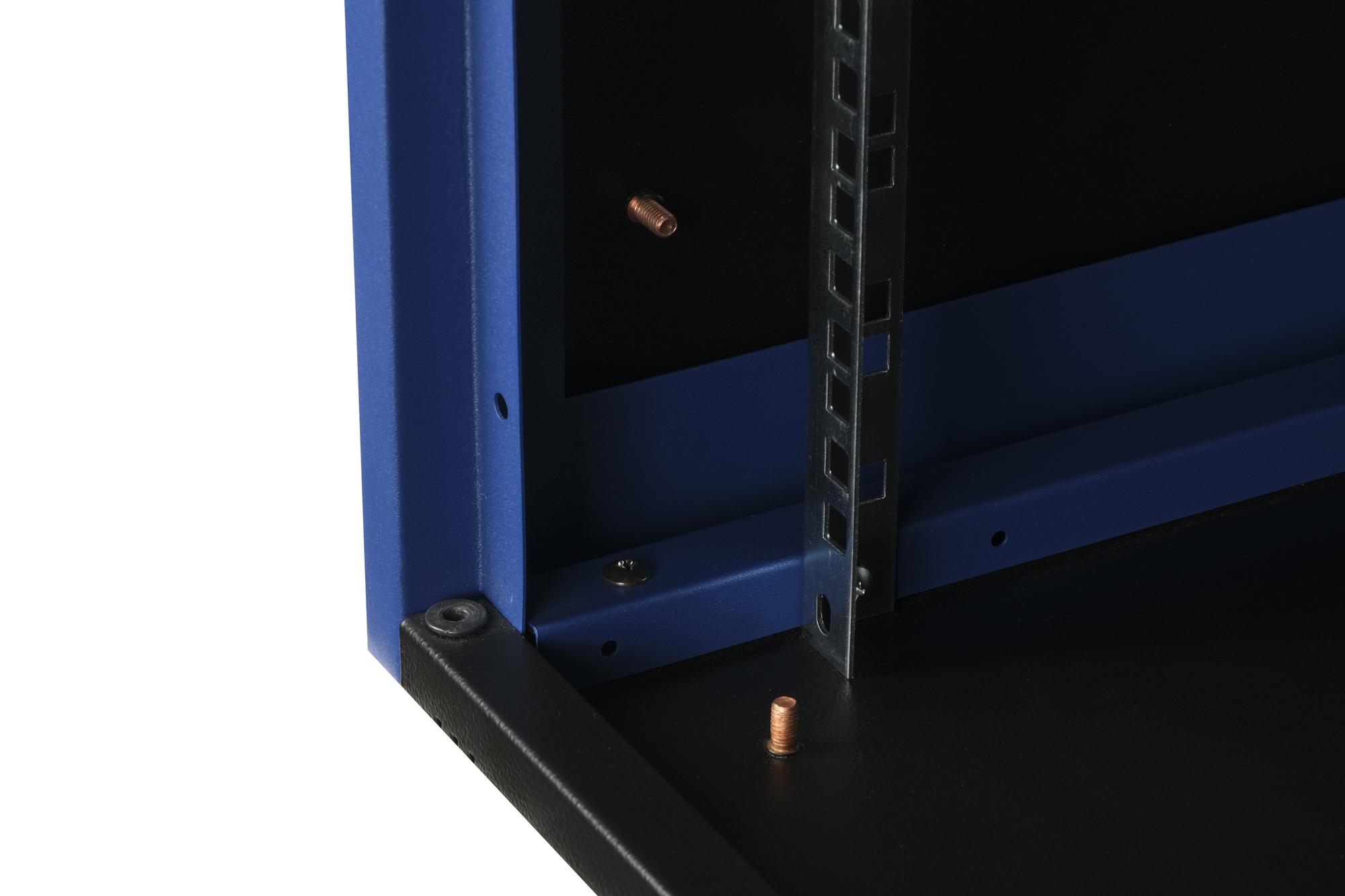 "DR-610211 Datarex Шкаф настенный 19"", 12U 600х450, дверь металл черный"