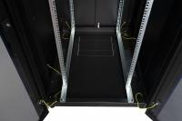 """DR-721301 Datarex Шкаф напольный, телекоммуникационный 19"""", 32U 600х600, передняя дверь перфорация, задняя стенка перфорированная, черный"""