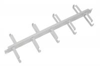 """гко-1-9 органайзер кабельный горизонтальный двусторонний 19"""" 1u, 9 колец"""