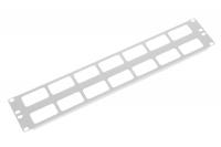"""гко-о-2 органайзер кабельный горизонтальный 19"""" 2u с окнами для кабеля"""