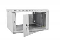 шрн-э-18.350 шкаф телекоммуникационный настенный разборный 18u (600х350) дверь стекло