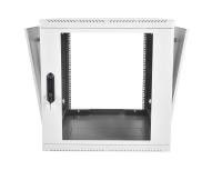 шрн-м-9.500 шкаф телекоммуникационный настенный разборный 9u (600х520) съемные стенки, дверь стекло