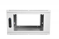 шрн-6.300 шкаф телекоммуникационный настенный 6u (600х300) дверь стекло