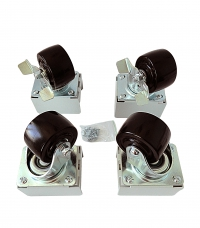 """штк-м-150 комплект грузоподъемных роликов 3""""x2"""" для шкафов штк-м, 4 шт."""