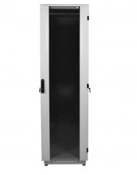 штк-м-42.6.6-1ааа шкаф телекоммуникационный напольный 42u (600x600) дверь стекло