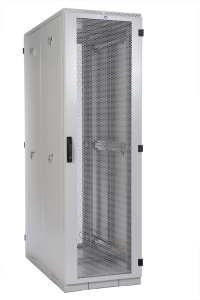 штк-с-42.8.10-44аа шкаф серверный напольный 42u (800x1000) дверь перфорированная 2 шт.