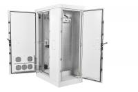штв-2-12.10.9-43а3-т1 шкаф всепогодный напольный укомплектованный 12u (ш700xг900) с эл. отсеком, комплектация т1-ip54