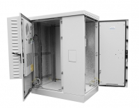 штв-2-18.10.9-к3а3-тк шкаф всепогодный напольный укомплектованный 18u (ш1000xг900) с эл. отсеком, комплектация тк-ip54