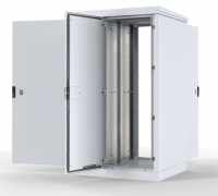 штв-2-30.10.9-43а3 шкаф уличный всепогодный напольный 30u (ш1000xг900) с электроотсеком, три двери