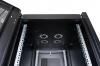 """DR-700001 Datarex Шкаф напольный, телекоммуникационный 19"""", 20U 600х600, передняя дверь стекло, задняя стенка сплошная, металл, черный"""